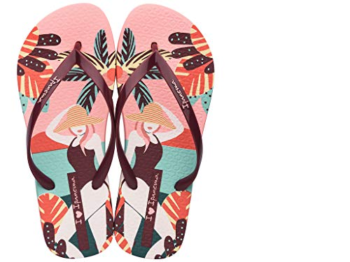Ipanema Sandals I LOVE SUN, PINK/RED, Size 5