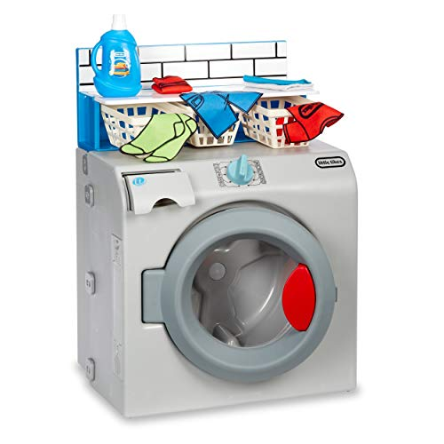 Little Tikes First Washer Dryer - Realistic Pretend Play Appliance for Kids, Interactive Toy Washing Machine with 11 Laundry Accessories, Unique Toy, Ages 2+