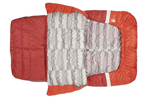 Sierra Designs Backcountry Bed Duo 20, Lightweight Zipperless Backpacking 2-Person Double 20 Degree Sleeping Bag with Comforter Like Design, Insulated Hand/Arm Pockets & More, Double