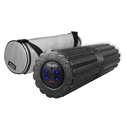 """Vulken 4 Speed High Intensity Extra Long17"""" Vibrating Foam Roller Deep Tissue Massager for Muscle Recovery"""