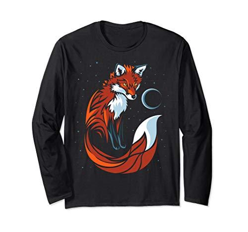 Tribal Fox great tail - long Sleeve t-shirt