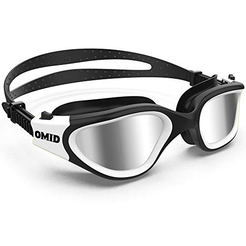 Swim Goggles, OMID Comfortable Polarized Swimming Goggles, Anti-Fog Leak Proof UV Protection Crystal Clear Vision Triathlon Swim Goggles with Protective Bag for Men Women Adult Youth Teens