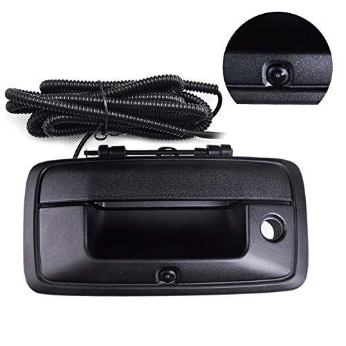 Chevy Silverado and GMC Sierra Rear View Camera Backup Tailgate Handle Camera for Silverado 1500 / Sierra 1500 Fit for Year 2014-2015,Tailgate Door Handle Replacement Camera(Color: Black)