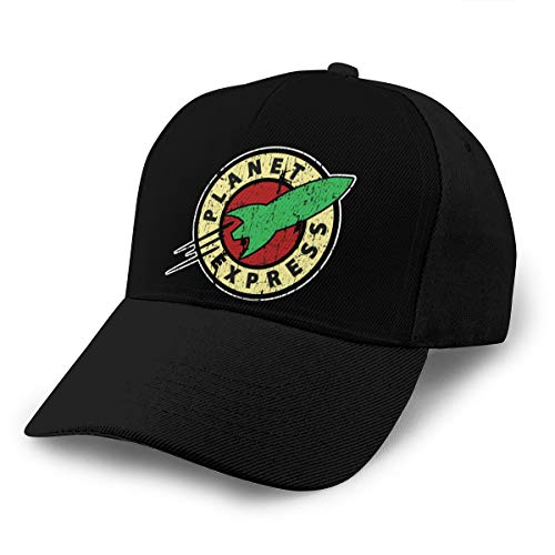 Vicnen Planet Express Unisex Adjustable Baseball Cap Classic Fashion Casual Sports Hat Black