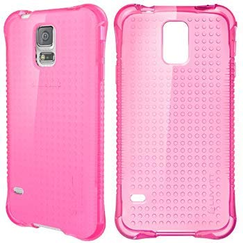 Galaxy S5 Case, LUVVITT [Clear Grip] Soft Slim Flexible TPU Back Cover Transparent Rubber Case for Samsung Galaxy S5 - Transparent Pink