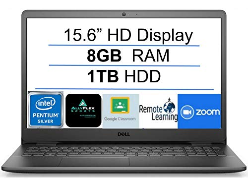 2021 Newest Dell Inspiron 15 Business Laptop Computer: 15.6' HD Display, Intel Quad-Core Pentium N5030(Up to 3.1GHz), 1TB HDD, 8GB RAM, WiFi, Bluetooth, HDMI, Webcam, Windows 10 S, Gift Mousepad
