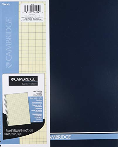 Cambridge Mead Wirebound Quad Notebook, 70 Sheets-Ivory (6194)
