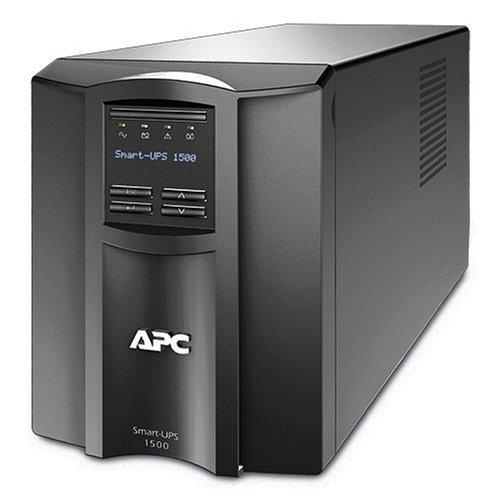 APC Smart-UPS 1500VA UPS Battery Backup with Pure Sine Wave Output (SMT1500) (Renewed)