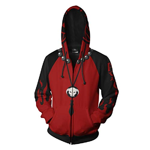 Unizero One Piece Hoodies - Portgas D. Ace One Piece 3D Zip Up Hoodie Red
