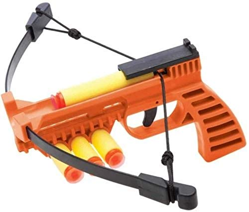 NXT GENERATION Crossbow Pistol Orange - Accurate Pistol Target Practice - Practice Target Play for Kids - Incl 3 Safe Foam Suction Cup Dart Projectiles and Built in Quiver