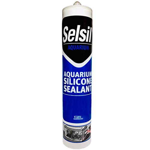 SELSIL Aquarium Silicone Sealant Clear, High Elasticity, Safe for Fish, 100% Solvent Free, 100% Non-Toxic, Fresh and Saltwater, 10.14 Fl oz.(300 ml) Transparent (1)