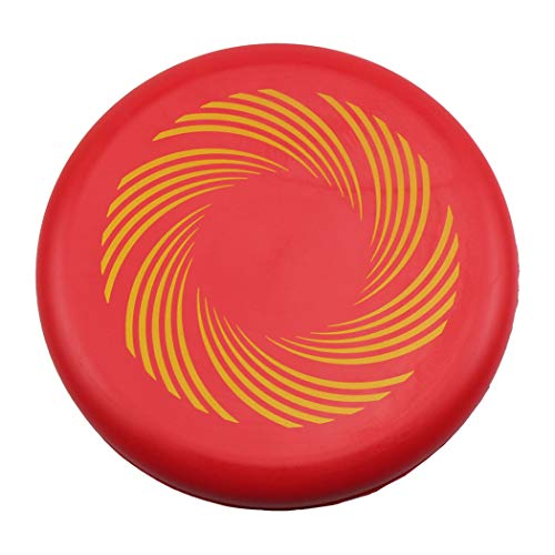 ZZEWINTRAVELER Flying Discs Golf PU Soft Parent-Child Outdoor Sports Game Disc Golf 8' Diameter (Red-A)