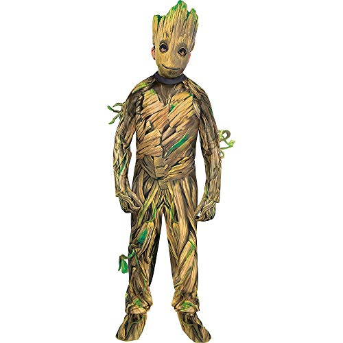 Costumes USA Guardians of the Galaxy 2 Baby Groot Costume for Boys, Large (12-14), Includes Jumpsuit, Mask and Gloves