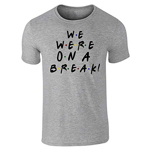 We were On A Break Funny 90s TV Show Graphic Gray L Graphic Tee T-Shirt for Men
