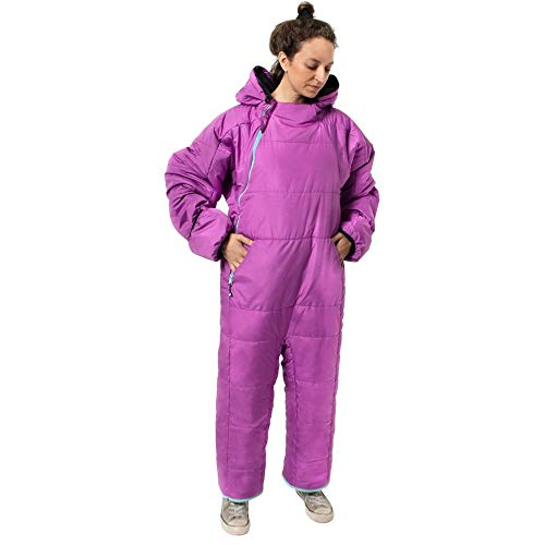 Selk'bag Lite 6G Wearable Sleeping Bag I Outdoor and Indoor Sleeping Bag for Camping, RV Trips, Travelling, Hammocks, Backpacking, Lounging, Violet Cockatoo, X-Large