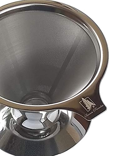 Success Paradise Paperless Pour Over Coffee Maker, coffee dripper, 18\8 (304) Stainless Steel Reusable Drip Cone Coffee Filter