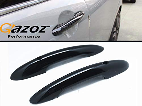 Car Exterior Accessories - Gloss Black Door Handle Cover W/Keyless Entry Compatible For Mini Cooper S F54 F55 F56 F58 F59 & Mini Electric Mk3 2014-2020