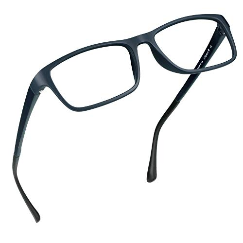 LifeArt Blue Light Blocking Glasses, Anti Eyestrain, Computer Reading Glasses, Gaming Glasses, TV Glasses for Women Men, Anti Glare (Navy, 1.25 Magnification)