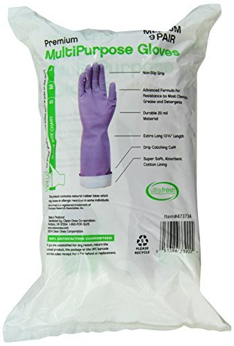 Clean Ones Premium Multi Purpose Non Slip Gloves, 9 Count (Medium)