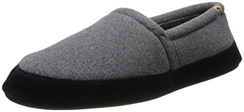 Acorn Men's Moc Slippers, Charcoal, 9-10
