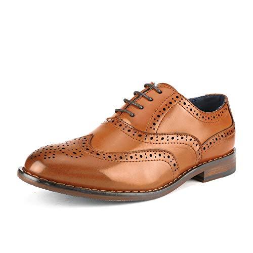Bruno Marc Big Kid Prince_K_2 Brown Boy's Classic Oxfords Dress Shoes Size 5 M US Big Kid