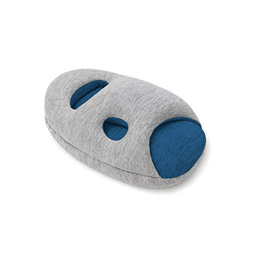 OSTRICH PILLOW MINI Travel Pillow for Airplane Head Support - Travel Accessories for Hand and Arm Rest, Power Nap on Flight and Desk - Sleepy Blue