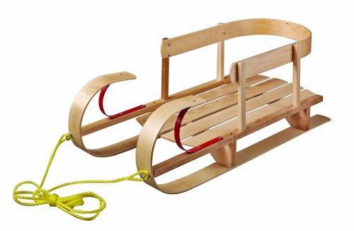 Paricon Kindersleigh Sled, Wood, 35.5-Inch x 14.5-Inch x 13-Inch (B32)