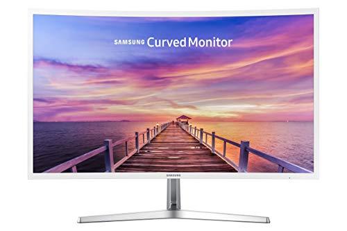 Samsung 32in Full HD Curved Screen LED TFT LCD Monitor Glossy White MagicBright FreeSync Technology Eco Saving Plus Eye Saver DisplayPort HDMI (LC32F397FWNXZA) (Renewed)