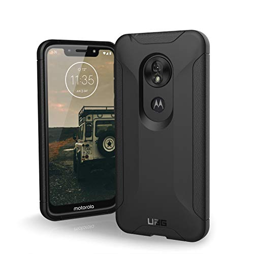 URBAN ARMOR GEAR UAG Made for Moto G7 Play Scout Feather-Light Rugged [Black] Military Drop Tested Phone Case
