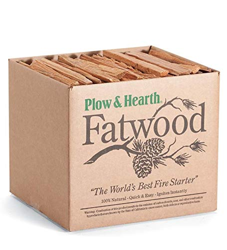 Plow & Hearth 1059 Fatwood Fire Starter-10 Pounds, 10 Lb Box, Brown