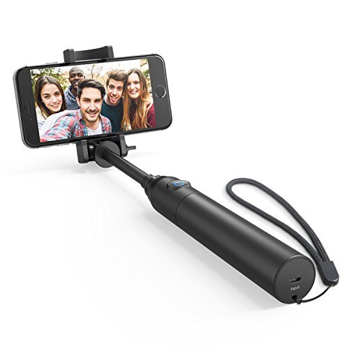 Selfie Stick, Anker Bluetooth Highly-Extendable and Compact Handheld Monopod with 20-Hour Battery Life for iPhone X/8/8 Plus/7/7 Plus/Se/6s/6/6 Plus, Galaxy S8/S7/S6/Edge, LG G5, Pixel 2 and More