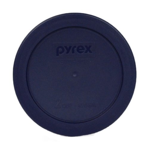 Pyrex 7200-PC Blue Round 2 Cup Storage Lid for Glass Bowls (1, Blue)