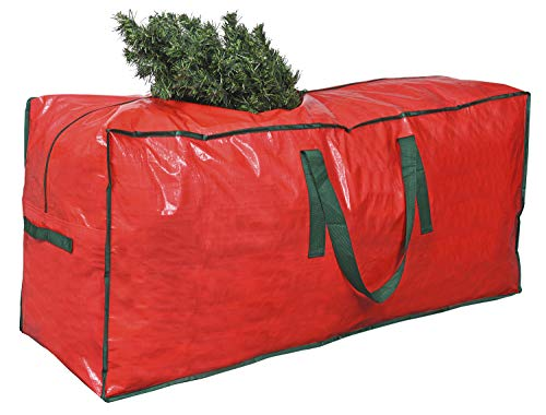 ProPik Christmas Tree Storage Bag   Fits Up to 7 ft. Tall Disassembled Tree   45' x 15' x 20' Holiday Artificial Tree Storage Case   Perfect Xmas Storage Container with Handles and Sleek Zipper (Red)