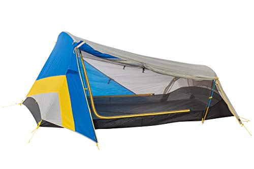 Sierra Designs High Side 2, Low Profile Lightweight Two Door Two Vestibule Tent, Great for Bikepacking, Blue/Yellow, 2-Person