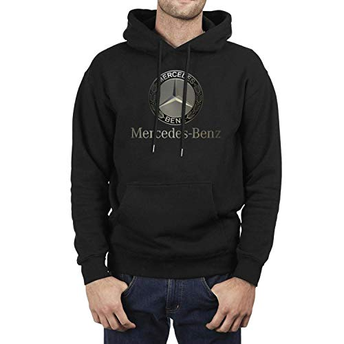 linchen Men Mercedes-Benz-Logo- Fleece Wool Warm Hoodie Sweatshirt Casual Pullover Hoodie Sweater Hooded Sweatshirt Pullover