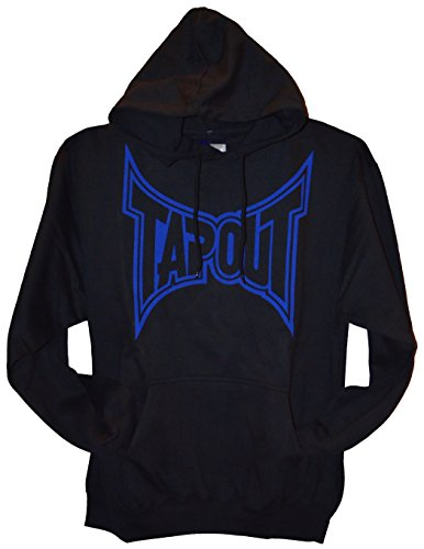 TapouT Classic Pull Over Hoodie (Medium, Black/Blue)