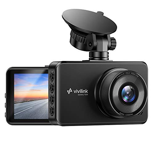 ViviLink T20X 2.5K Dash Cam for Cars, Car Camera Car Driving Recorder, 3' IPS Screen, WDR & F2.3 Aperture for Super Night Vision, 170° Wide Angle, Loop Recording, G-Sensor, Parking Monitor