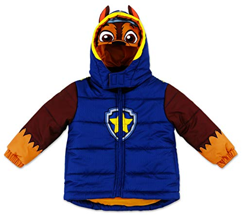 Boys' Paw Patrol Warm Winter Puffer with Hood Jacket Coat 4