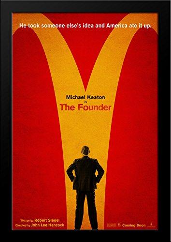 The Founder 28x36 Large Black Wood Framed Movie Poster Art Print