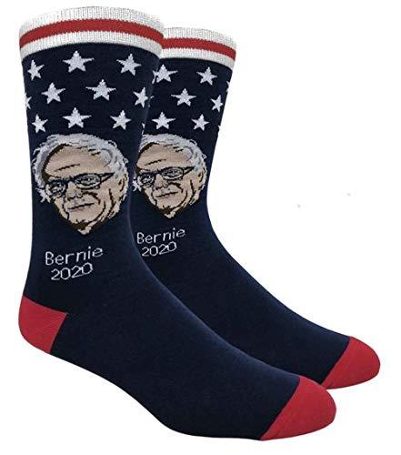Bernie Sanders Novelty Dress Socks for Men - Fun Colorful Crew Socks - Democratic Candidate Socks - Bernie Sanders 2020 Socks