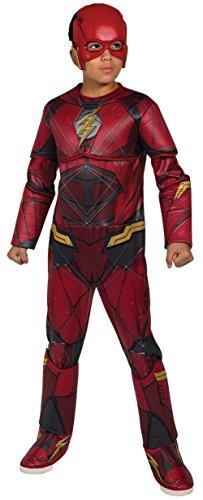 Rubie's Costume Boys Justice League Deluxe Flash Costume, Medium, Multicolor