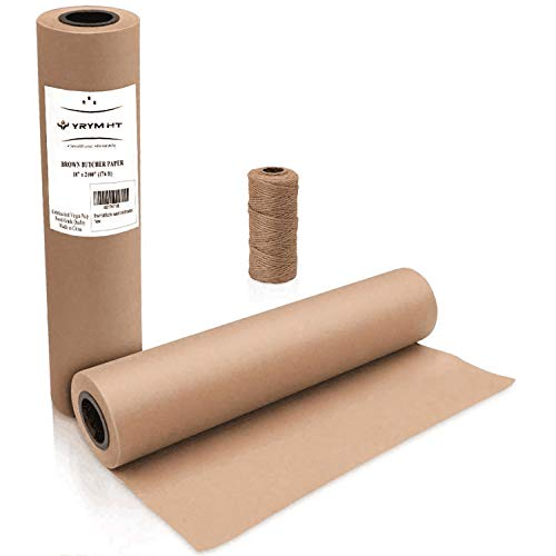 Brown Kraft Butcher Paper Roll - Natural Food Grade Brown Wrapping Paper for BBQ Briskets,Smoking & Wrapping Meats,18' x 2100' (176 ft) - Unbleached Unwaxed and Uncoated