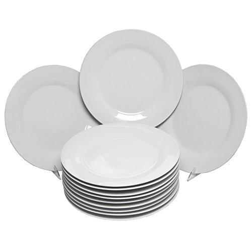 10 Strawberry Street Catering Pack 10.5', Set of 12 Dinner Plates, White
