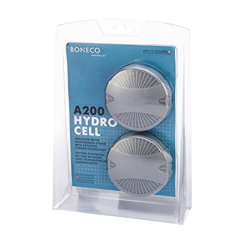 BONECO AOS Hydro Cell A200 Humidifier Filter with Activated Carbon, 2 Pack, Gray, 2 Count