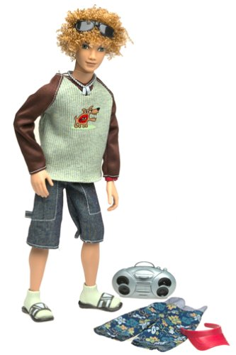 My Scene Doll Bryant - at school and at the beach fashion style - visor and mini stereo