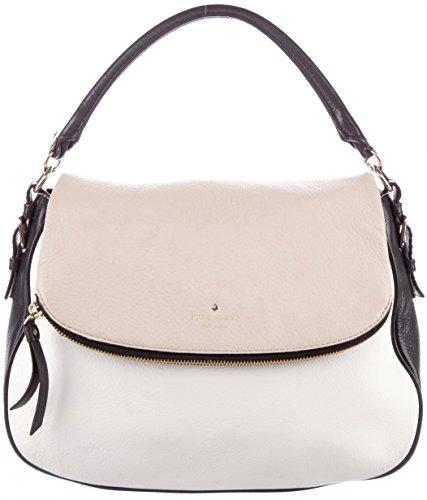 Kate Spade Cobble Hill Devin Leather Handbag Crossbody Bag, Black/White/Beige Colorblock