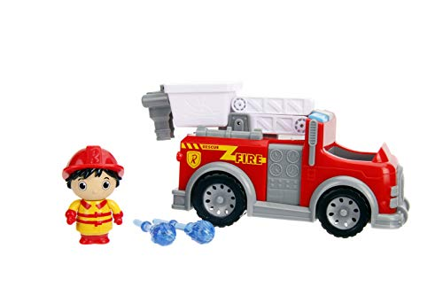 Jada Toys Ryan's World Fire Truck with Ryan Figure, 6' Feature Vehicle Red