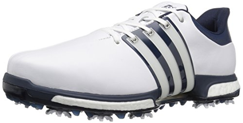 adidas Men's Golf Tour360 Boost Spiked Shoe, WHITE, 12 M US