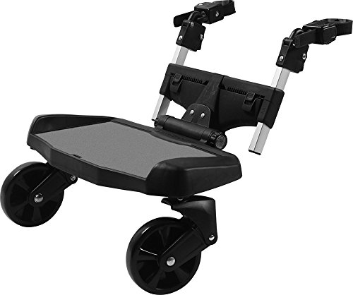 guzzie+Guss Hitch Full Suspension Ride-On Stroller Board, Fits Different Styles of Strollers; Joggers, Prams, Full-Sized, and Umbrella Strollers, for Ages Two to Five Years, Max Weight 62 pounds.