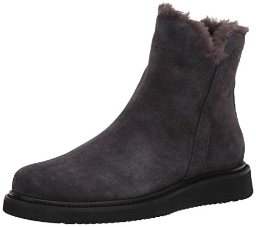 Aquatalia womens CATALINA SUEDE/FAUX FUR Ankle Boot,Grey,7.5 M